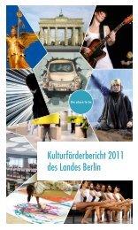 Kulturförderbericht 2011 des Landes Berlin - Berlin.de