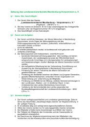 Satzung des Landesseniorenbeirats Mecklenburg-Vorpommern e. V.