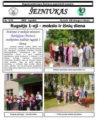 2005-09, Nr.19 - Bagaslaviškio Igno Šeiniaus pagrindinė mokykla