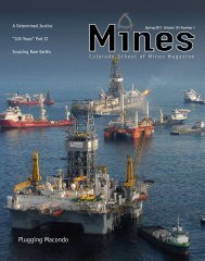 Plugging Macondo - Mines Magazine - Colorado School of Mines