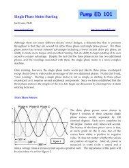 single phase motors - Pump Ed 101