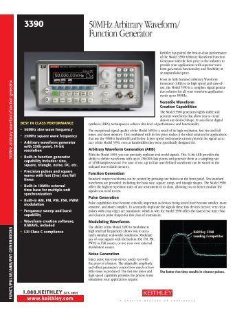 50MHz Arbitrary Waveform/ Function Generator - Danel Co Il