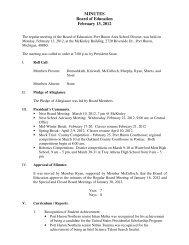 MINUTES Board of Education February 13, 2012 - Port Huron Area ...