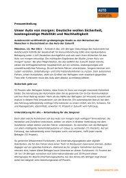 Unser Auto von morgen: Deutsche wollen Sicherheit - Autoscout24