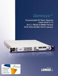 Genesys™ 750W/1500W-1U - Schulz Electronic GmbH