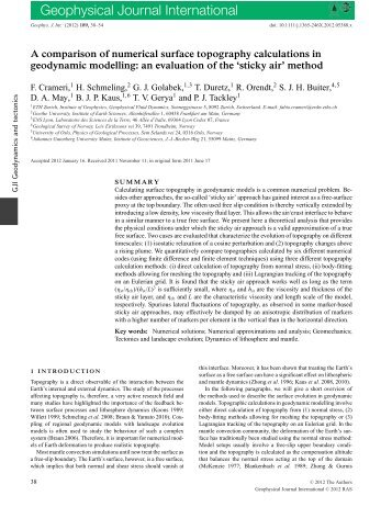 A comparison of numerical surface topography calculations in ...