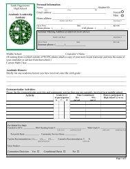 Academic Leadership Academy Application