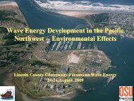 Wave Energy Development in the Pacific Northwest ...