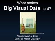 What Makes Big Visual Data Hard?