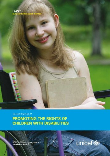 Promoting the Rights of Children with Disabilities, UNICEF