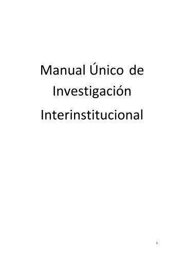 Manual Unico de Investigacion - Escuela de Capacitación Fiscal