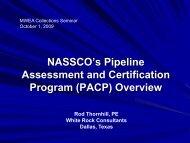 NASSCO's Pipeline Assessment and Certification Program (PACP)