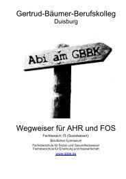 Gertrud-Bäumer-Berufskolleg Wegweiser für AHR ... - Schulserv.de
