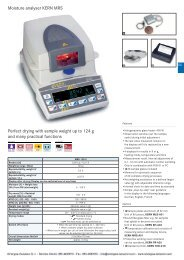 Moisture analyser KERN MRS Perfect drying with sample weight up ...