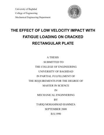 the effect of low velocity impact with fatigue loading on cracked ...