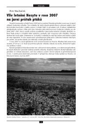 Vliv letnění Nesytu v roce 2007 na jarní průtah ptáků - Regionální ...