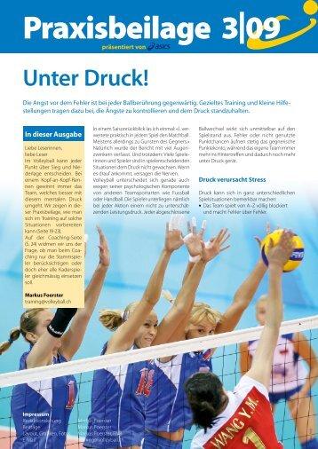 Praxisbeilage zum Swiss Volley Magazine 3/2009