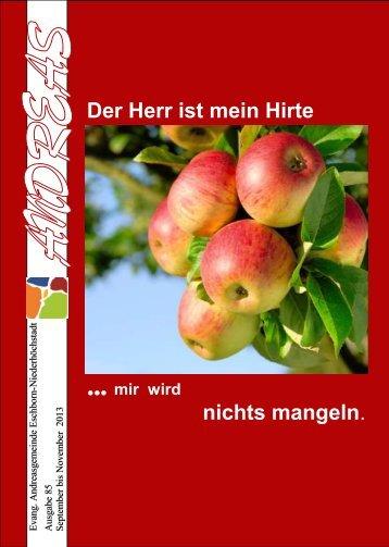 Der Herr ist mein Hirte - Andreasgemeinde Niederhöchstadt