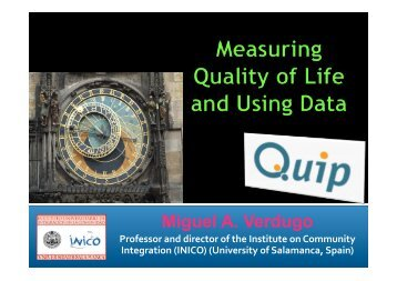 Measuring Quality of Life and Using Data
