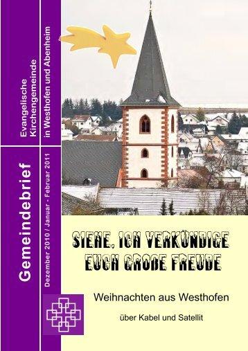Dezember bis Feburar 2011 - Evangelische Kirchengemeinde ...