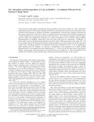 The Adsorption and Decomposition of C2H4 on Ru(001): A ...