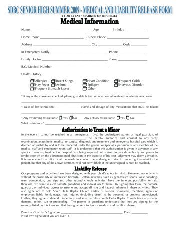 simple medical records release form