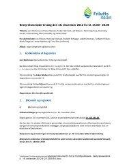 Bestyrelsesmøde tirsdag den 18. december 2012 fra kl ... - Friluftsrådet