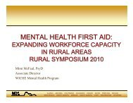 mental health first aid - National Technical Assistance Center for ...