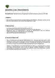 DESARROLLO DEL PROCEDIMIENTO - Issfam