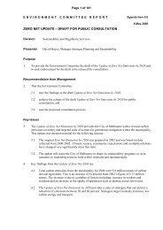zero net update – draft for public consultation - City of Melbourne
