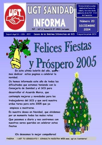 Boletin Nº 20 Diciembre - Sanidad en UGTCantabria