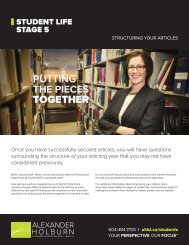 Read Structure of Articling Year