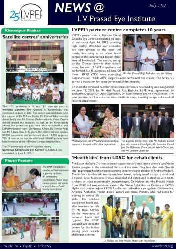 NEWS @ - LV Prasad Eye Institute