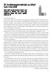 Gemeindebrief April/Mai 2008 - andreasgemeinde-erfurt.de | Startseite