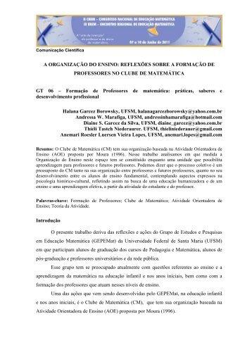 A ORGANIZAÇÃO DO ENSINO: REFLEXÕES SOBRE A ...