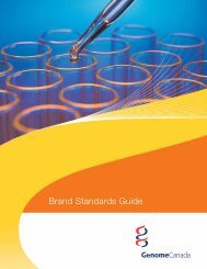 Brand Standards Guide - Genome Canada