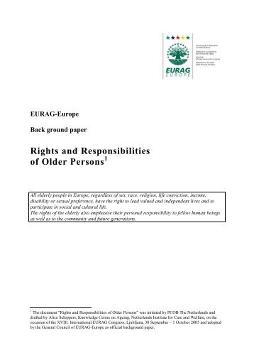 Rights and Responsibilities of Older Persons - AAGI-ID Associação ...