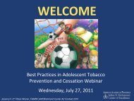 View slides from this webinar - American Academy of Pediatrics