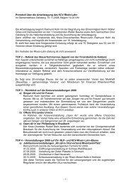 Protokoll der Arbeitstagung 2008 - des Kreis-Chorverbandes Rhein ...