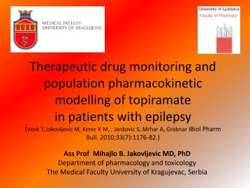 Therapeutic drug monitoring and population pharmacokinetic ...