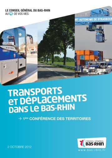 document conseil general bas rhin conference transports ...