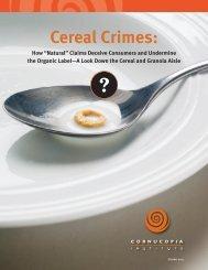 Cornucopia_Cereal_Report
