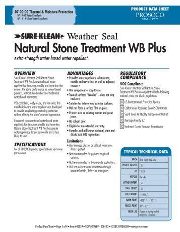 Prosoco Natural Stone Treatment Wb Plus