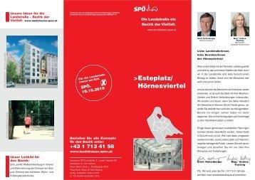 Esteplatz/ Hörnesviertel - SPÖ Landstrasse