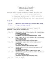 INB :: Instituto de Neurobiología ::.. UNAM