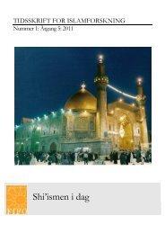 Hele tidsskriftet - Forum for Islamforskning
