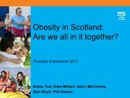 Obesity in Scotland: Are we all in it together?