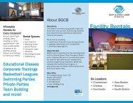 Facilities Rental Brochure - Boys and Girls Club of Boston