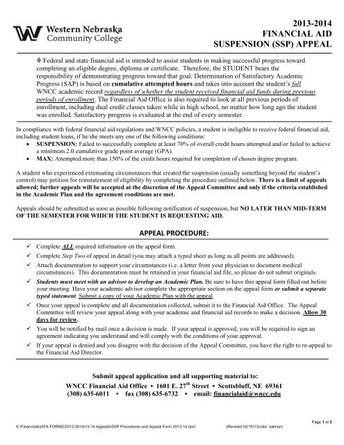 Sample Financial Aid Appeal Letter For College from img.yumpu.com