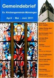 Gemeindebrief 2011-2 - Evangelische Kirchengemeinde Münsingen